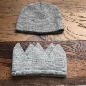 Baby boys cloud island gray crown hat 0-6 months